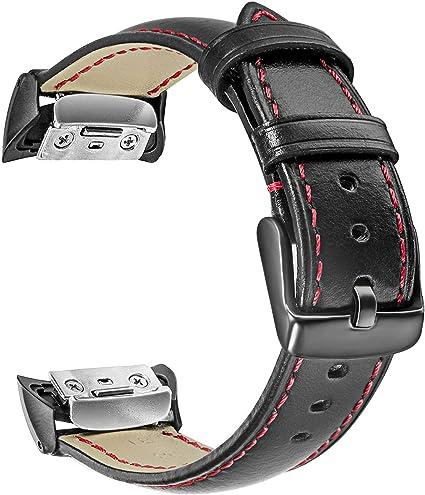 Gear Fit2 / Fit2 Pro Watchband, TRUMiRR Genuine Leather Band Sports Strap Wrist Bracelet for Samsung Gear Fit 2 SM-R360 / Fit 2 Pro SM-R365 Smart ...