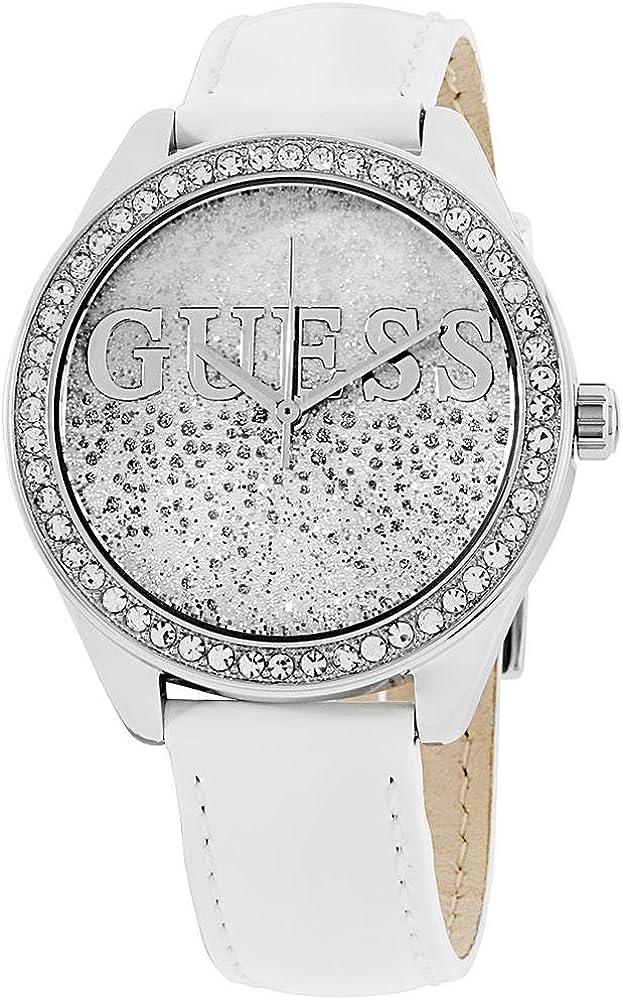 Guess Reloj Análogo clásico para Mujer de Cuarzo con Correa en Cuero W0823L1