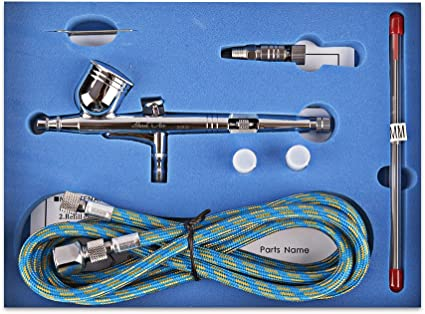 Dual Action Airbrush Kit 0.2mm//0.3mm //0.5mm Nail Makeup Tattoo Painting Tool Kit