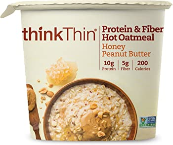 6-Pk. ThinkThin Protein & Fiber Hot Oatmeal Bowl (1.76 oz)