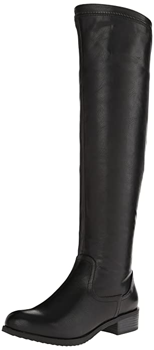 White Mountain Crooner Women US 5 Black Knee High Boot