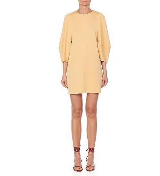 f8f3ba4d2c96 Tibi Women's Crepe Knit Balloon Sleeve Mini Dress Apricot 592E (XX-Small)