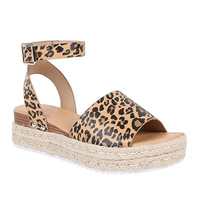 de7980659c70 Syktkmx Womens Flatform Espadrilles Ankle Strap Open Toe Slingback Wedge  Sandals (6.5 M US