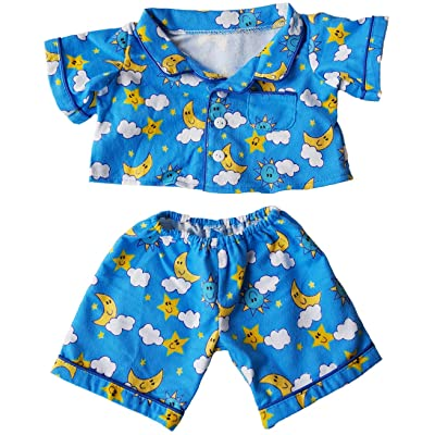 """Flannel PJ's Clothes Outfit Fits Most 14"""" - 18"""" Build-A-Bear and Make Your Own Stuffed Animals: Toys & Games"""