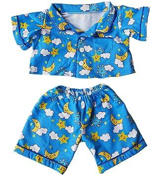 "Sunny Days Blue Pj/'s Teddy Bear Clothes Outfit Fits Most 14/"" 18/"" Build-A-Bear,"