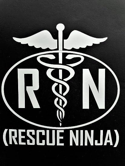 Amazon.com: Ninja Enfermera RN de lactancia vinilo sticker ...
