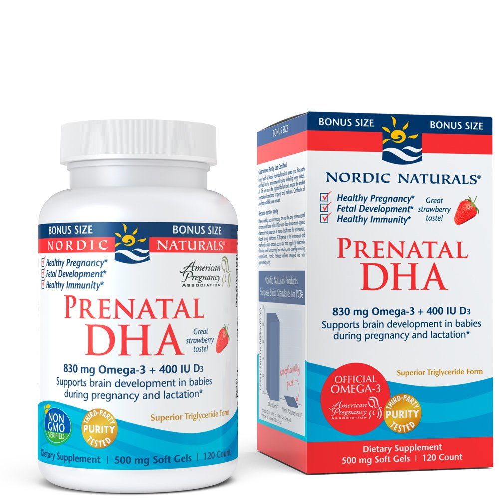 Nordic Naturals Prenatal DHA - Supports Brain Development in Babies During Pregnancy and Lactation, Strawberry Flavored, 120 Soft Gels by Nordic Naturals (Image #4)