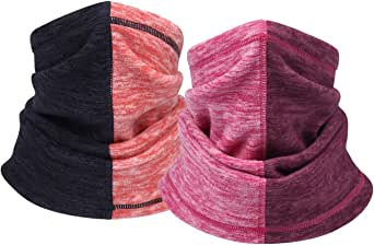Bomeen Thermal Scarf Neck Gaiter Warmer - Windproof Warmer Face Mask for Cold Weather & Neck Warmer Gaiter for Skiing, Running