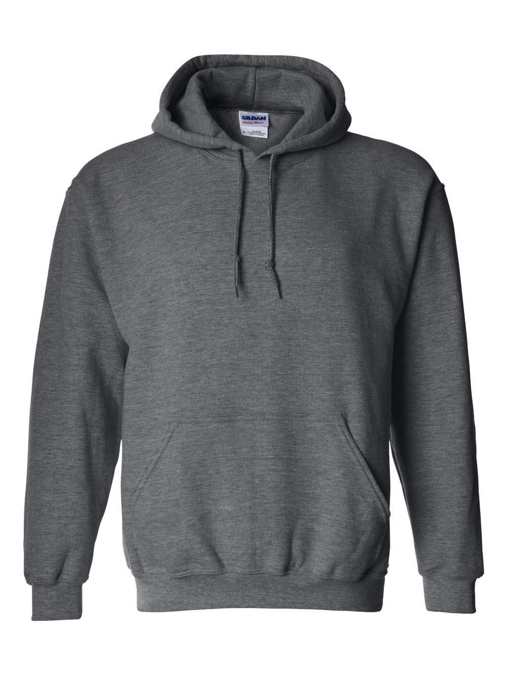 Gildan Men's Big and Tall Heavy Blend Fleece Hooded Sweatshirt G18500, Dark Heather, XX-Large