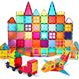 VATENIC 120PCS Kids Magnetic Tiles Building Blocks Set 3D Color Magnetic Blocks Toys for Kids Children,Educational Learning T