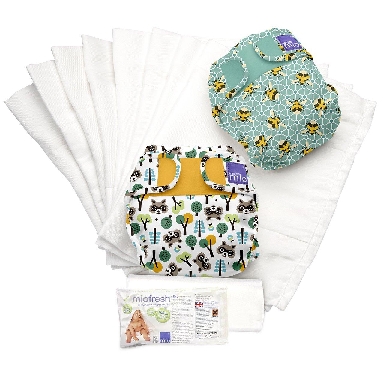 Bambino Mio, miosoft set de pañales de tela, blanco, talla 2 (9 kg+) NS2 A