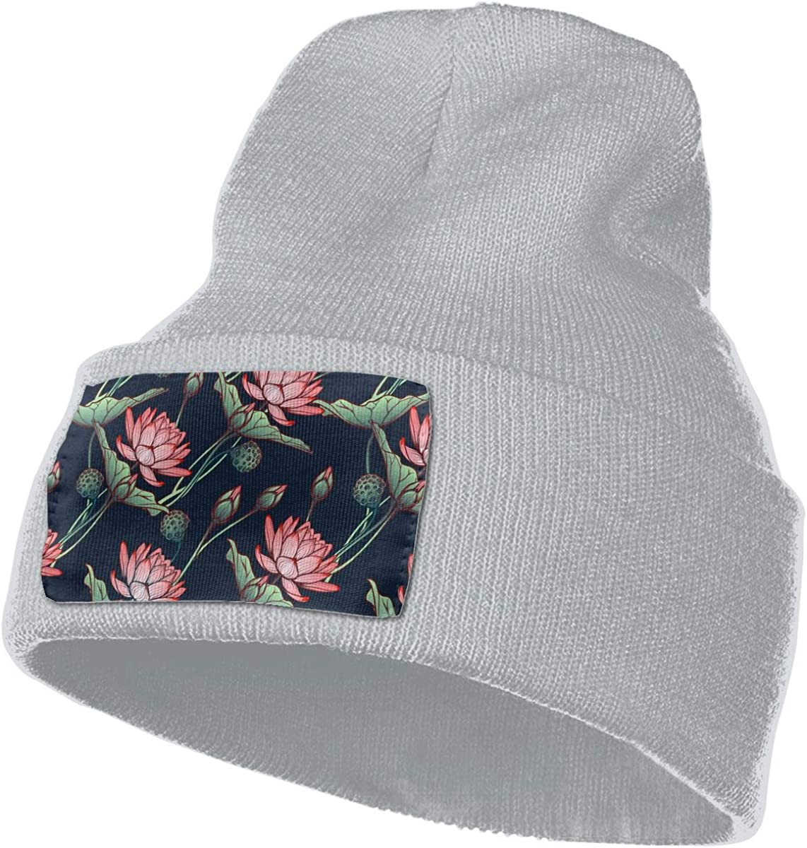 Lotus Floral Unisex Fashion Knitted Hat Luxury Hip-Hop Cap