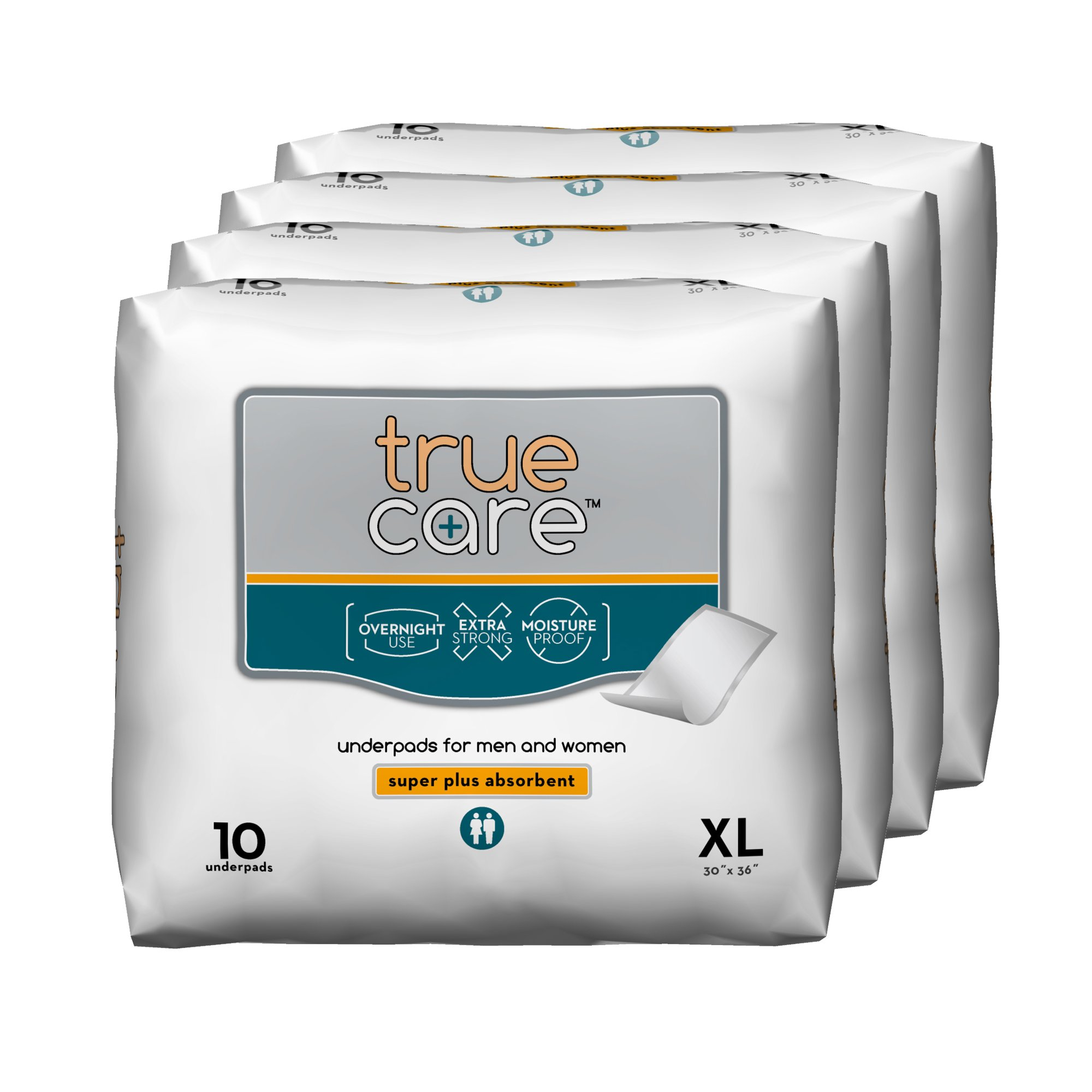 True Care Super Absorbent Incontinence Underpads, Extra Large, 30 by 36 Inches, 40