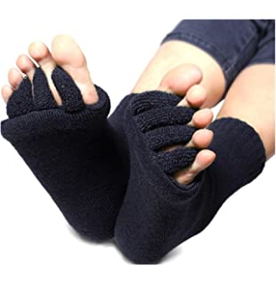 DevsWear Alignment Socks Open Five Toes Separator Toe Spacer Relaxing Comfort Tendon Pain Relief Comfy Foot