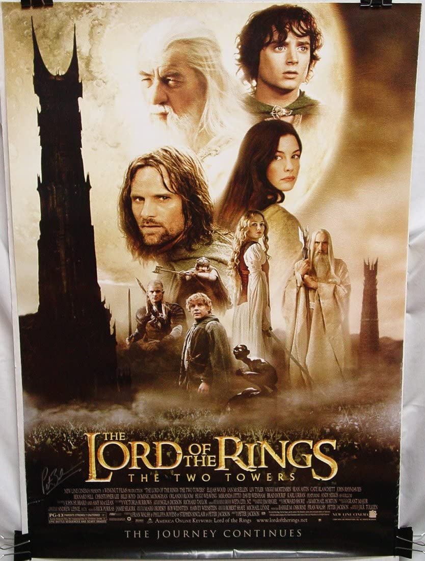 Lord Of The Rings The Two Towers 2002 Poster 27x40 Signed By Peter Jackson At Amazon S Entertainment Collectibles Store