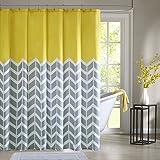 Intelligent Design ID70-219 Nadia Shower Curtain 72x72 Yellow,72x72
