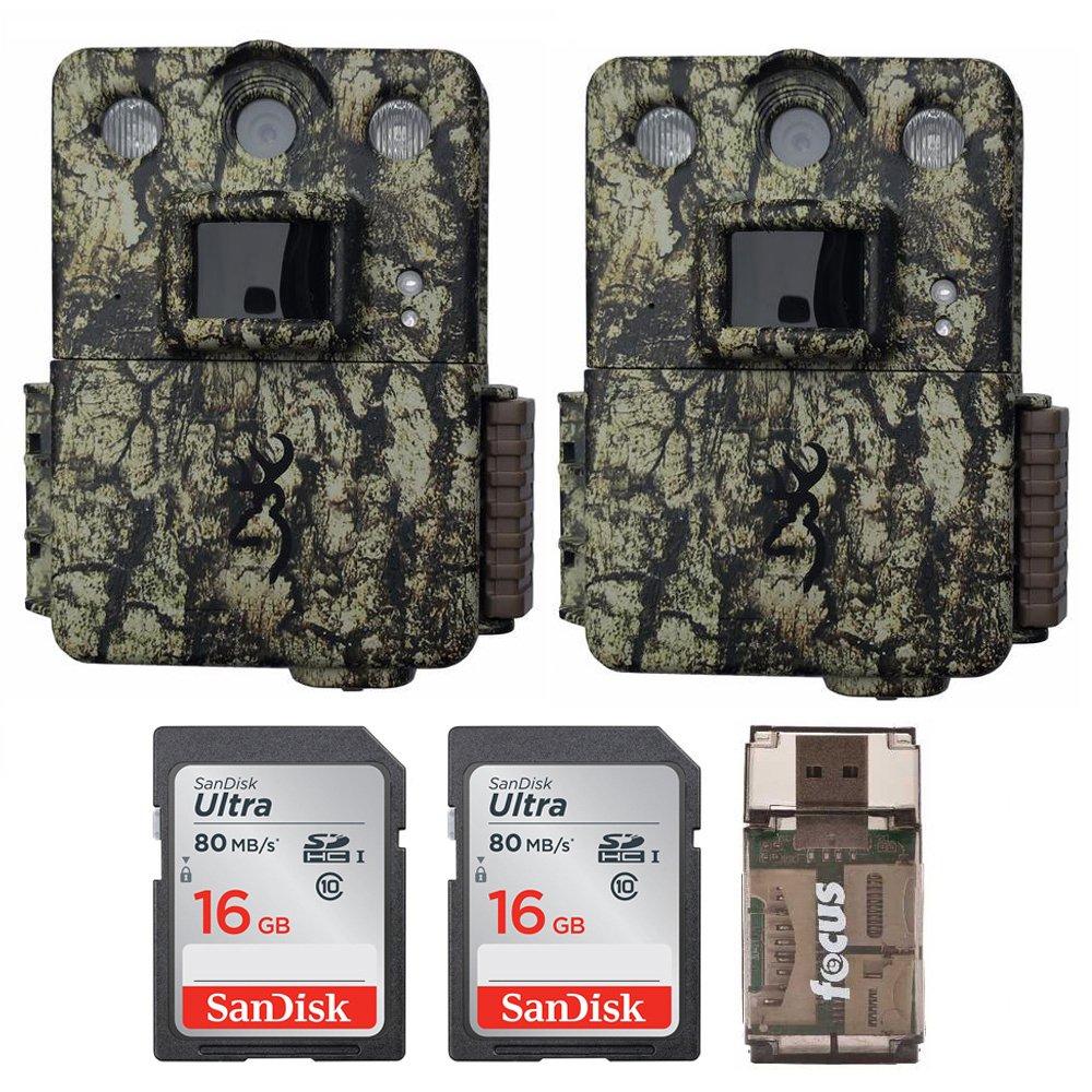 Browningトレイルカメラ2つコマンドOps Proゲームカメラ(14mp、カモ) with 16 GBカードとフォーカスUSBリーダー   B07BRBPPLQ