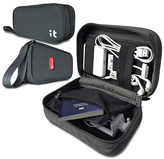 Travel Cord Organizer - Electronics Accessories Case & Travel Electronics  Organizer(Dark Gray)