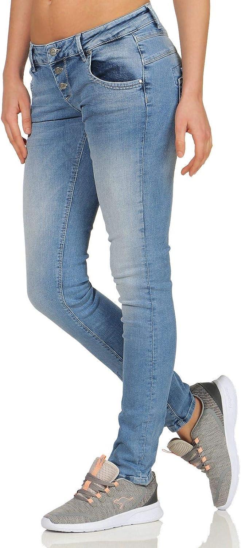 MOD dames jeans Ulla Slim Struma-Blue Struma Blue