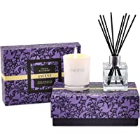 Reed Diffuser Set & Scented Candle French BlackBerry | Essential Oil Reed Diffuser | Room Fragrance Reed Diffuser Gift…