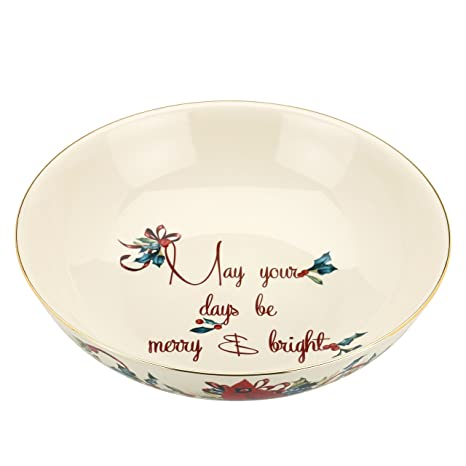 Amazon lenox winter greetings bowl may your days be merry and lenox winter greetings bowl may your days be merry and bright m4hsunfo