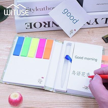 YCDC Cute Notebook - Agenda de Bolsillo con Mini Bloc de ...