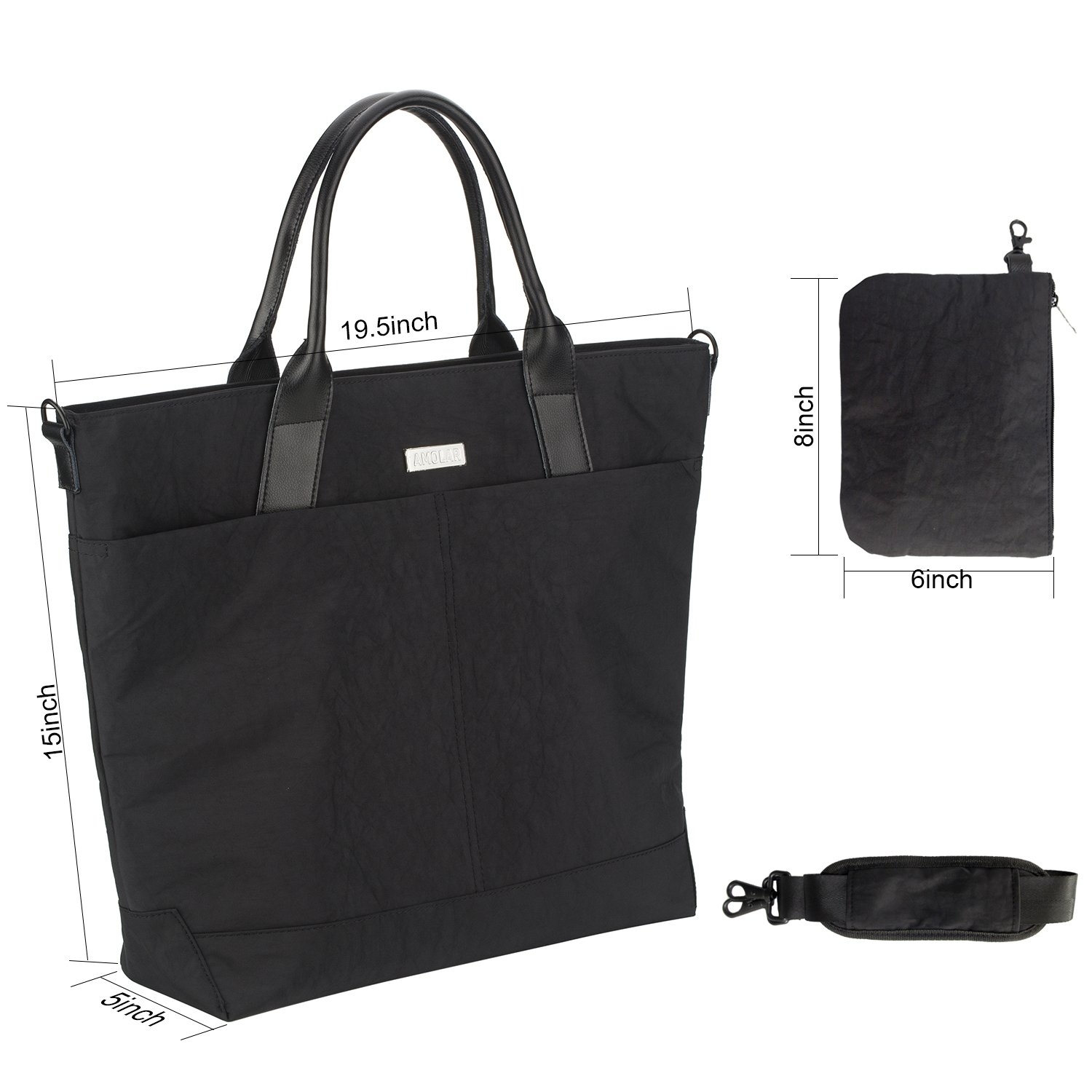 Laptop Bag for Women Up to 17 inch with Luggage Pass-Thru