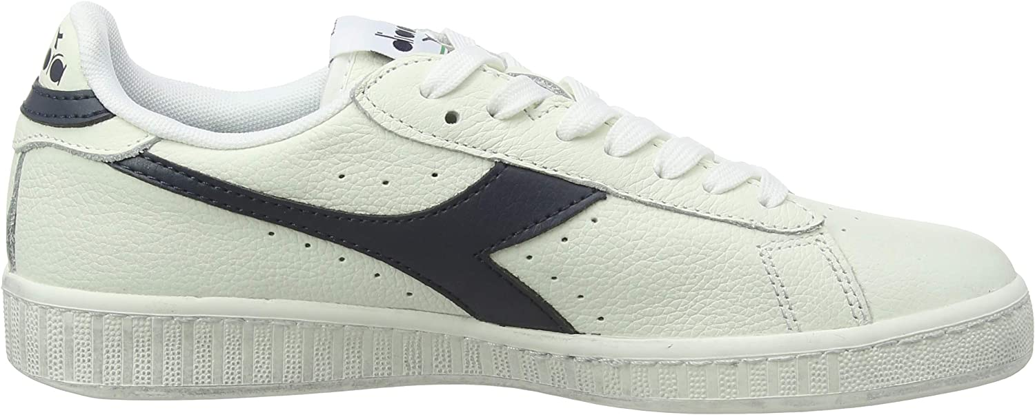 Diadora Game L Low Waxed, Chaussures de Gymnastique Mixte Adulte C5262 Blanc Blue Sea Caspian