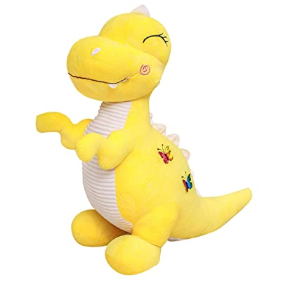 "Wemi Yellow Dinosaur Stuffed Animal Toys Cute Soft Dinosaurs Plush Doll T-Rex Throw Pillow for Boys Girls 11"": Toys & Games"