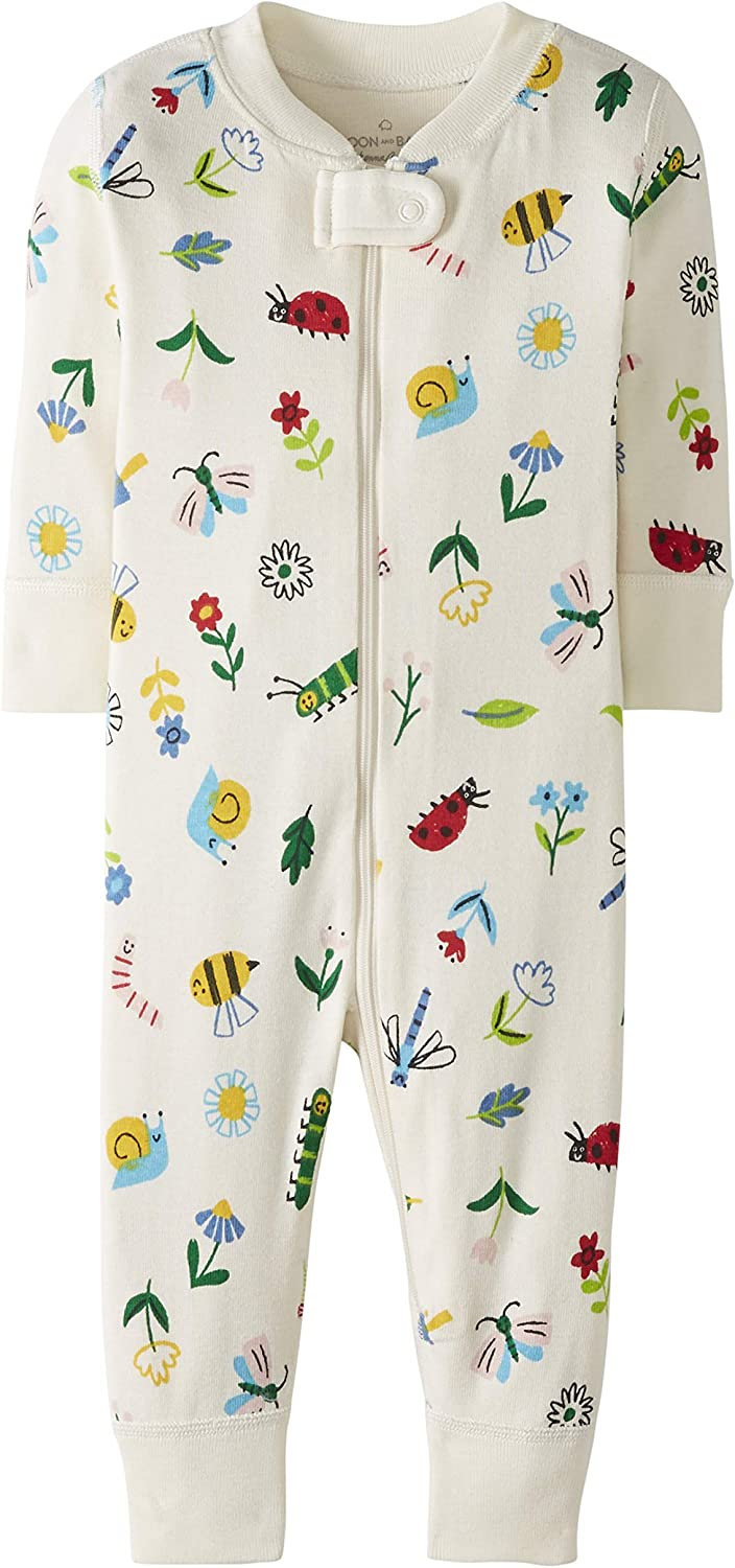 Bimbi 0-24 Moon and Back by Hanna Andersson One Piece Footless Pajamas Infant-And-Toddler-Sleepers Unisex