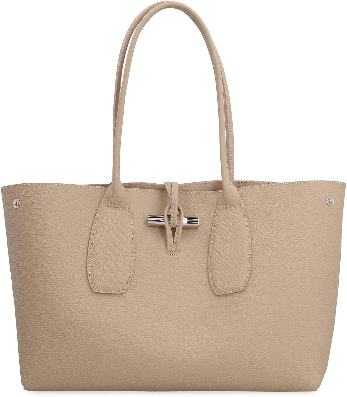Amazon.com: LongChamp Women's Roseau Medium Leather Tote Handbag ...