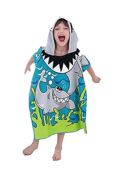 Gran tiburón blanco Unisexo Toalla de Baño Playa Piscina,Para niños de 6 a 13