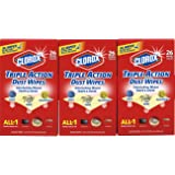 Clorox Triple Action Dust Wipes, Extra Large - 3 Pack - 26 Each