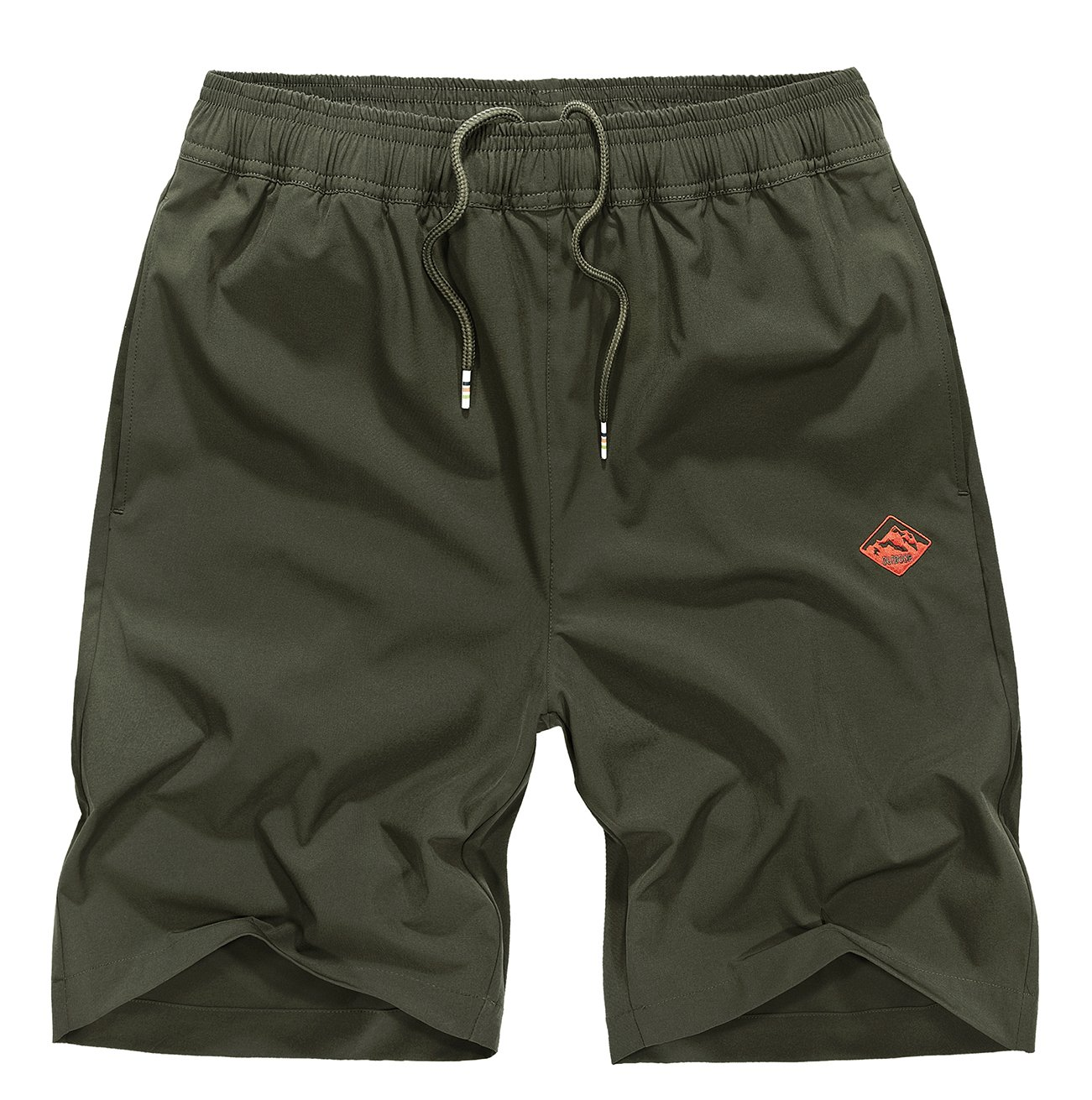 exeke Outdoor Men's Quick Dry Shorts Lightweight Hiking Shorts 252-Army Green/tag:3XL