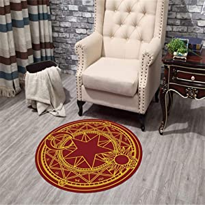 Oudan Rugs Rug Bedroom Living Room Anime Girl Sakura Magic Circle Bedroom Round Carpet Swivel Chair Mat - JBP38,A,120×120cm (Color : B, Size : 100×100cm)