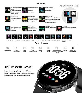 V11 Reloj Inteligente IP67 A Prueba de Agua Actividad de ...
