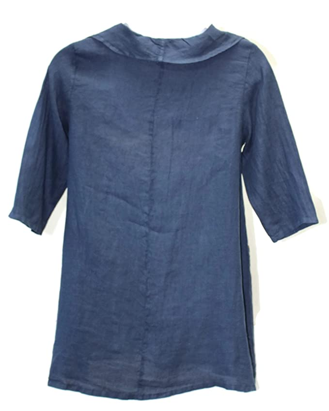 36831ab733 Match Point Women s Cowl Neck Linen Tunic Top sizes Small - 2X at Amazon  Women s Clothing store