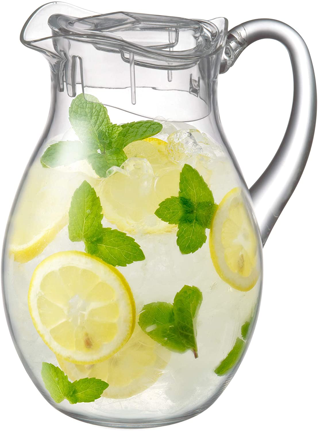 Amazing Abby Bubbly - Acrylic Pitcher (72 oz, 2 qt), BPA-Free and Shatter-Proof, Great for Iced Tea, Sangria, Lemonade, and More
