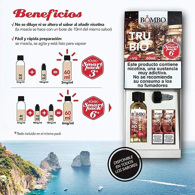 E-liquid BOMBO TRUBIO + VG 60ML - hojas de tabaco rubio, cáscaras ...