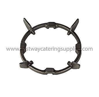 Soporte de hierro fundido para wok, apto para hornillos de gas, color negro