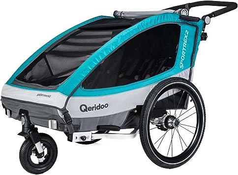 Remolque de bicicleta para 2 niños Sportrex2 (2018) de Qeridoo ...