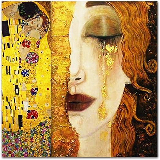 WSNDGWS Pintura para decoración del hogar, Lágrimas y Besos ...