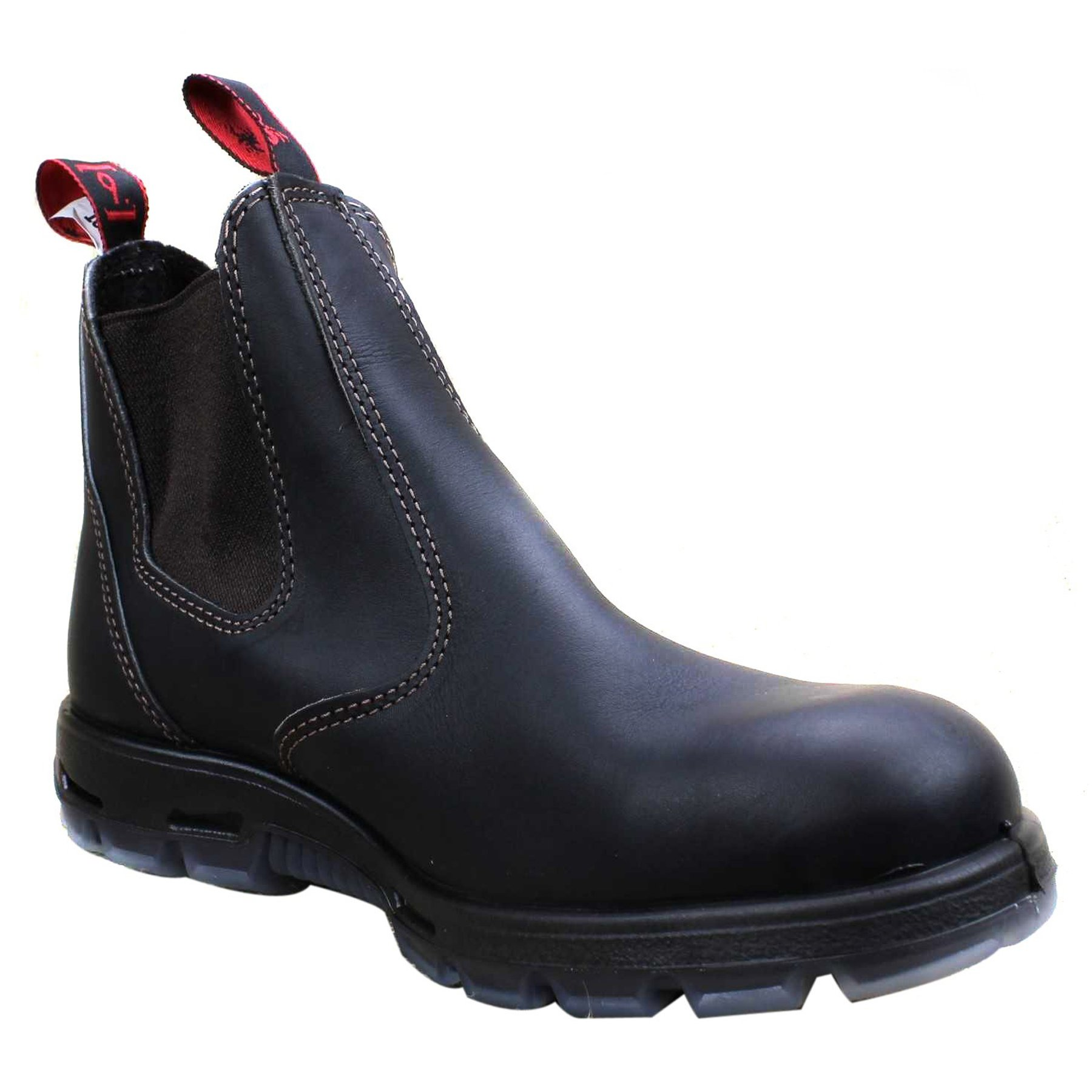 2071693c4335 RedbacK Men s Bobcat UBOK Dark Brown Elastic Sided Soft Toe Leather Work  Boot   Fire   Safety Boots   Clothing