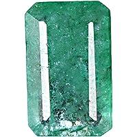 GEMHUB Esmeralda verde natural de 5,50 quilates, corte brillante, certificado facetado, piedra preciosa suelta para…