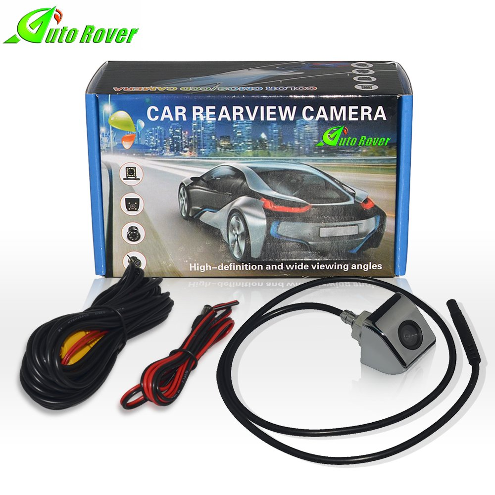 Auto Rover Car Rearview Backup Camera 170 Degree Wide Viewing Car Camera 1/4 Color CCD Imaging Chip HD Waterproof Night Vision Parking Assistance Reversing Camera (Black)