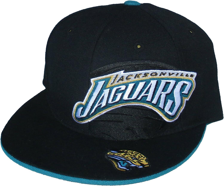 Jacksonville Jaguars Fitted Size 7 1//8 LOGO PLUS Black Hat Cap