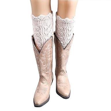 Butterme Damen Short Häkeln Leg Warmer Knit Stiefel Socken Topper ...
