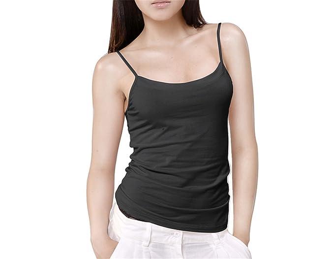 Frozac Sexy Womensole Spaghetti Strap Tanksoles Vest Bodysuit Fit Cute Singlet Ropa Interior Black S