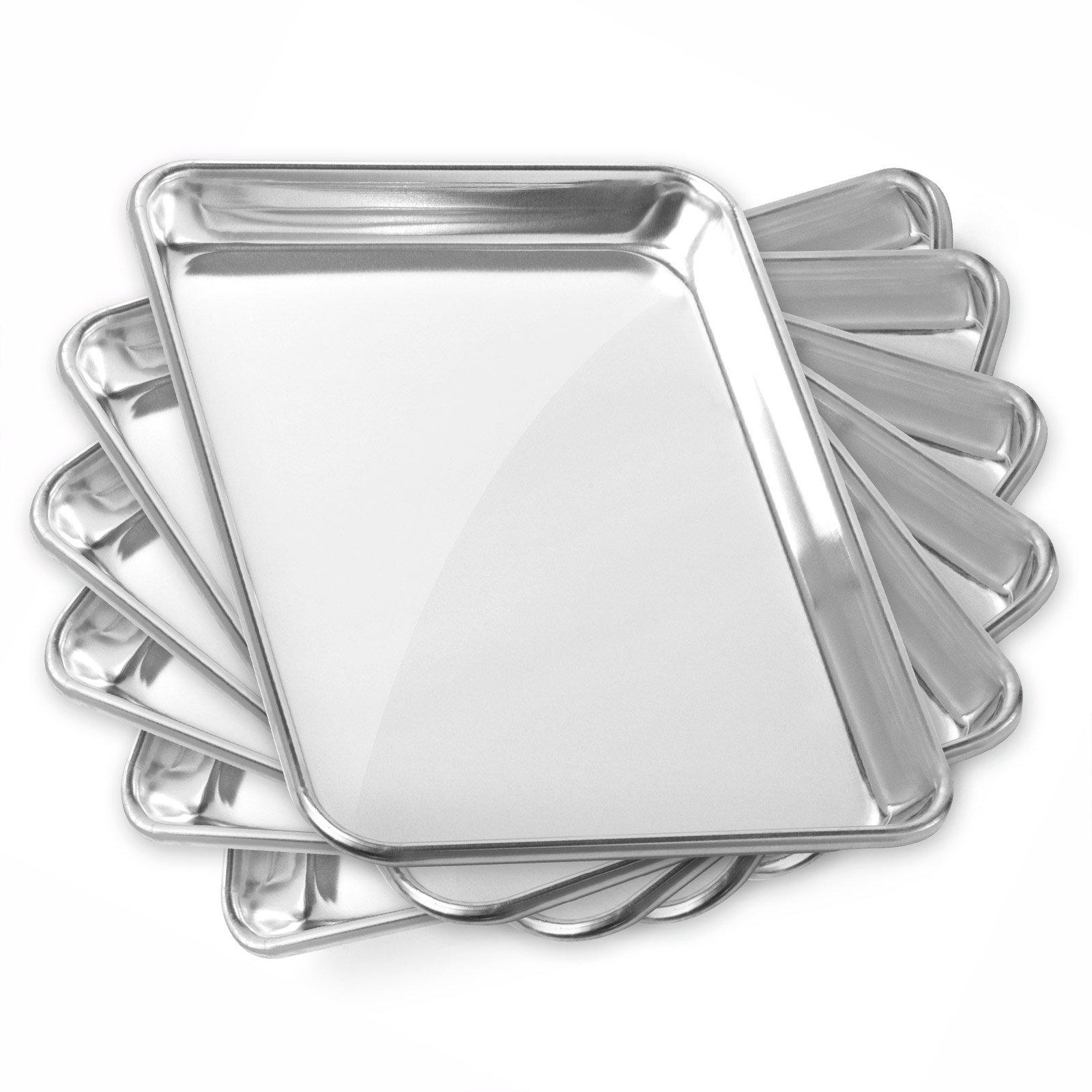 Gridmann 9 X 13 Commercial Grade Aluminium Cookie Sheet Baking Tray Jelly Rol.. 10
