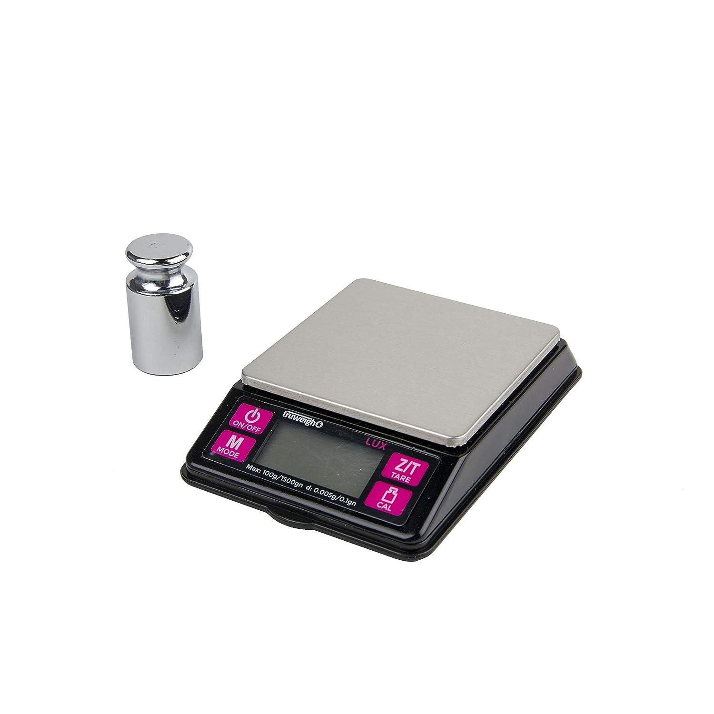 Truweigh - LUX Digital Mini Scale - 100g x 0.005g - LUX-100-005-BK